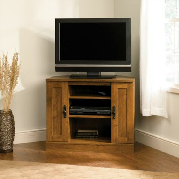 Mccue Solid Wood Corner TV Stand For TVs Up To 40