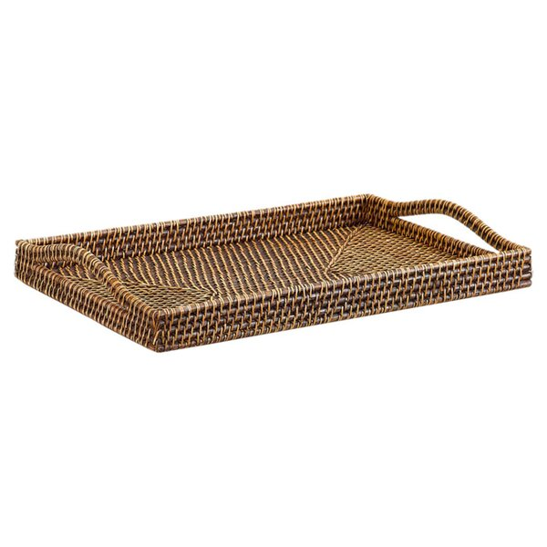 Rattan Bali Weave Rectangle Serving Tray by Gate House Furniture