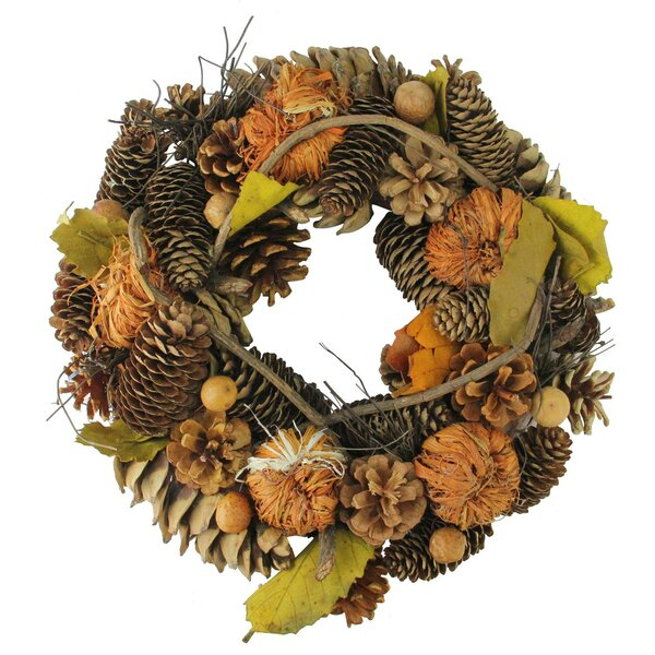 Autumn Harvest Artificial Thanksgiving 13 Pine Wreath by The Holiday Aisle