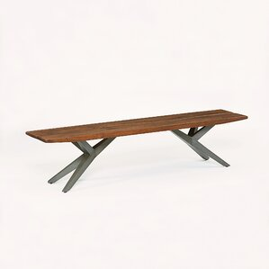 Burghala Wood Bench by World Interiors