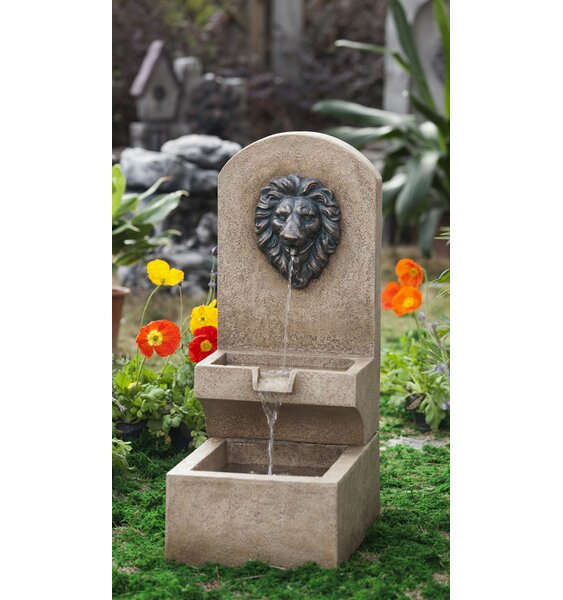 Resin/Fiberglass  Lion Head Wall Tier Fountain by Jeco Inc.