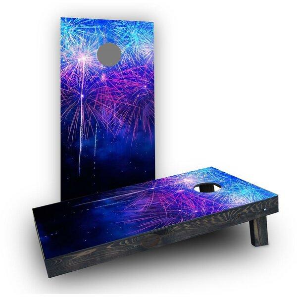 Starry Night Fireworks Show Cornhole Boards (Set of 2) by Custom Cornhole Boards