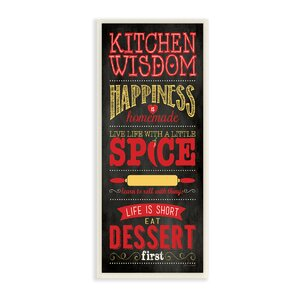 'Kitchen Wisdom Happiness is Homemade' Typography Wall Plaque by Andover Mills