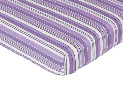 Kaylee Striped Fitted Crib Sheet by Sweet Jojo Designs