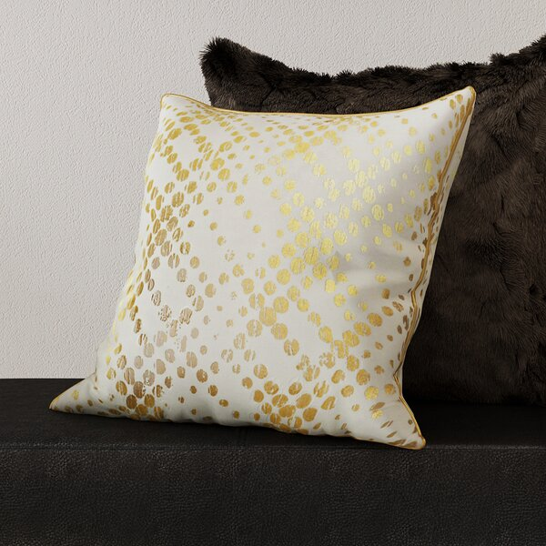 Lowndes Metallic Foil Throw Pillow by Mercer41