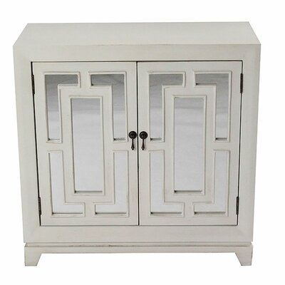 Ophelia and Co. Swainsboro Geo 2 Door Serverr  Color: Ivory