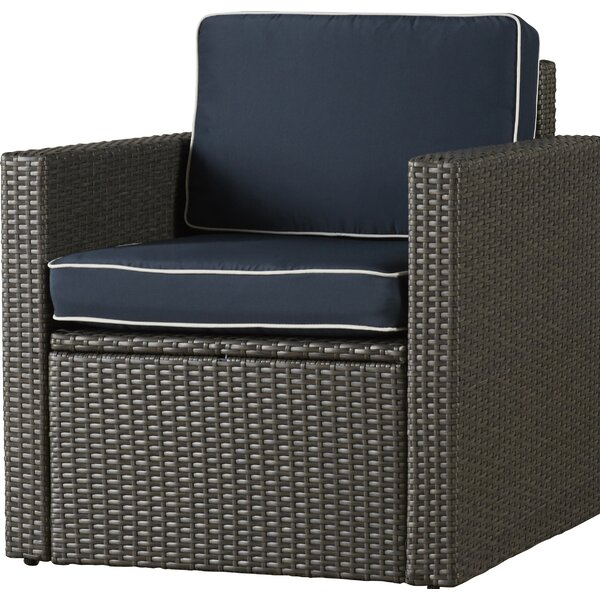 Mendelson Patio Chair with Cushions by Brayden Studio