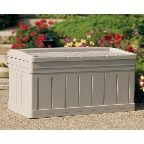 Deluxe 129 Gallon Plasic Resin Deck Box by Suncast Suncast