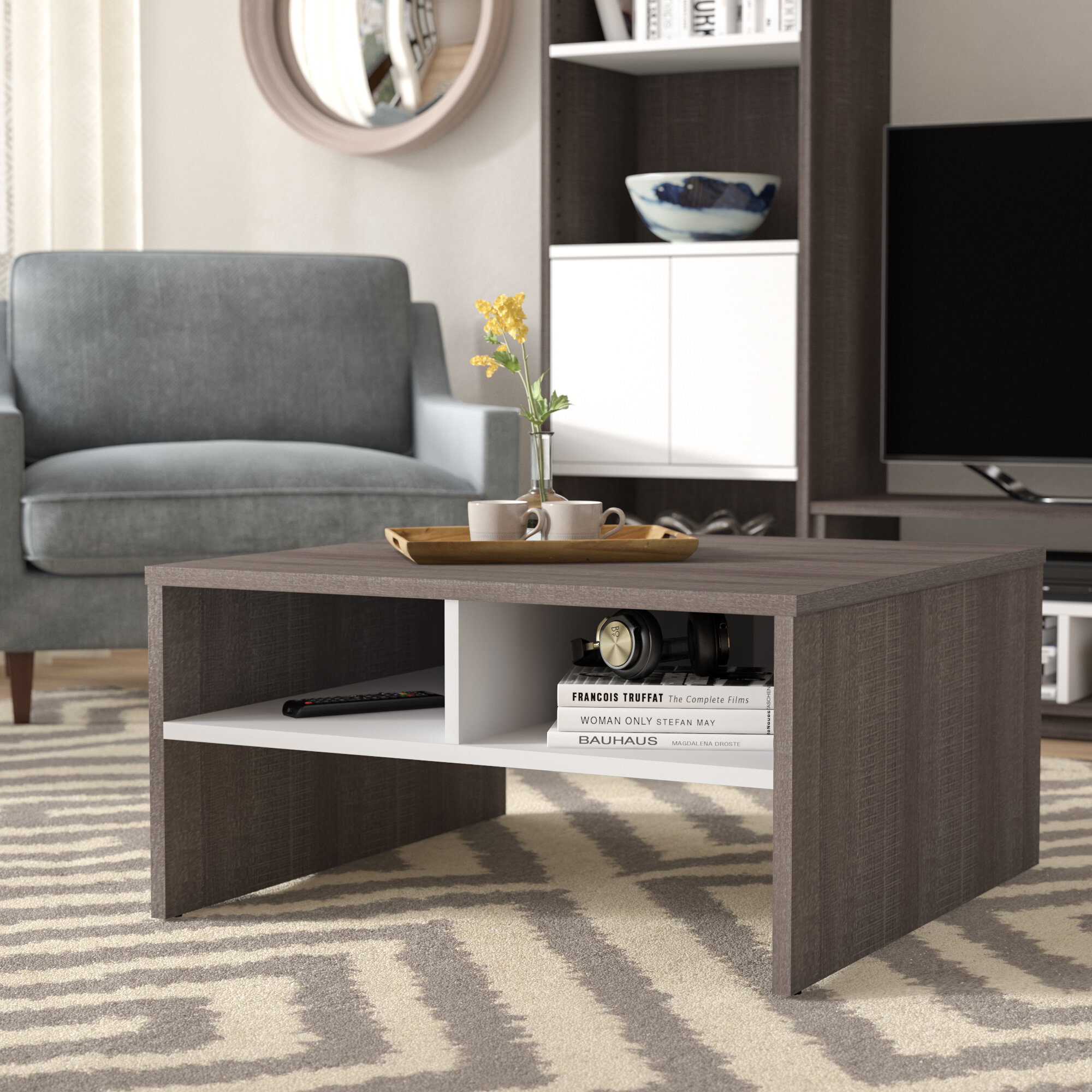 Latitude Run Frederick Storage Coffee Table With Magazine Rack U0026 Reviews |  Wayfair