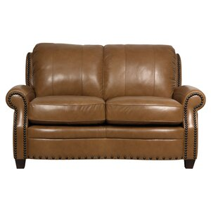 Hubbard Leather Loveseat