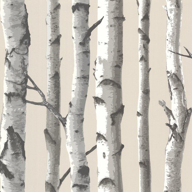 Birch Tree Wallpaper | Wayfair