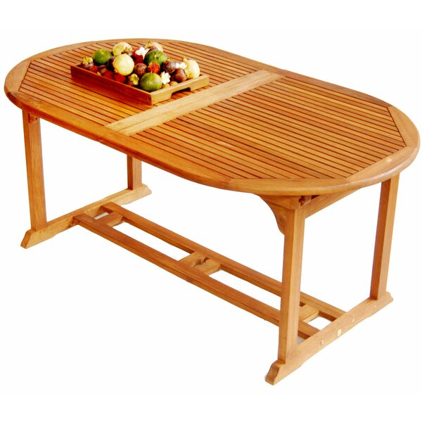 Georgio  Extendable Solid Wood Dining Table by Rosalind Wheeler