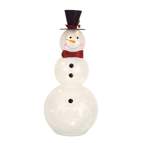 Snowman with Lights/Timer 22.75H Glass by The Holiday Aisle