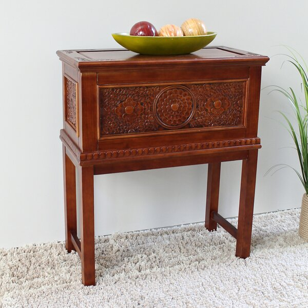 Palmieri Standing Wood Trunk End Table By World Menagerie