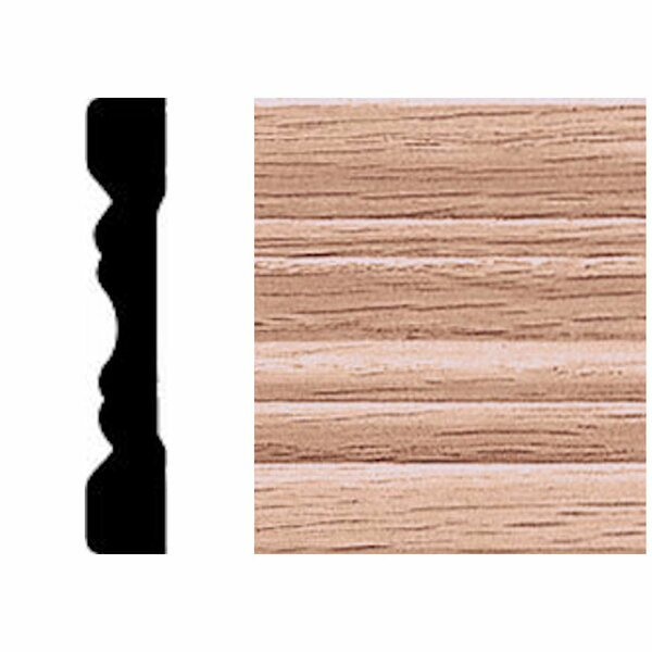 3/8 in. x 2-1/4 in. x 7 ft. Oak Fluted Casing Moulding by Manor House