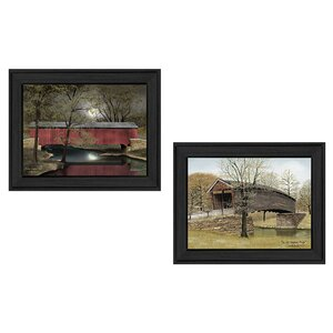 'Bridges' 2 Piece Framed Painting Print Set by Trendy Decor 4U