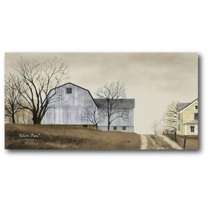 Old Farm on the Hill Painting Print on Wrapped Canvas by Courtside Market