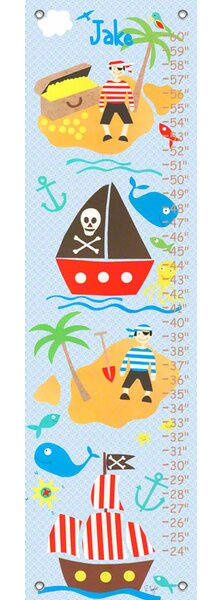 Collage Pirate Boys - Personalized Canvas Growth Chart by Oopsy Daisy