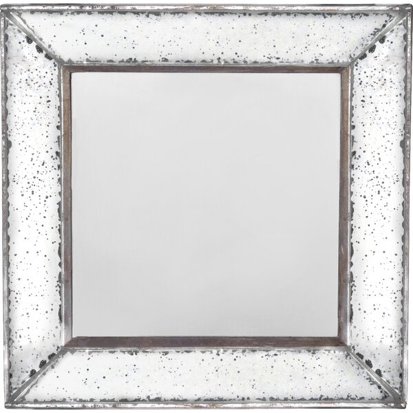 Traditional Square Glass Wall Mirror by Lark Manor