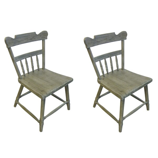 Kajal Solid Wood Dining Chair (Set Of 2) By Gracie Oaks