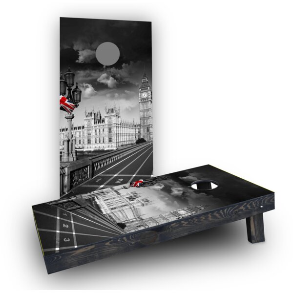 London England Cornhole Boards (Set of 2) by Custom Cornhole Boards
