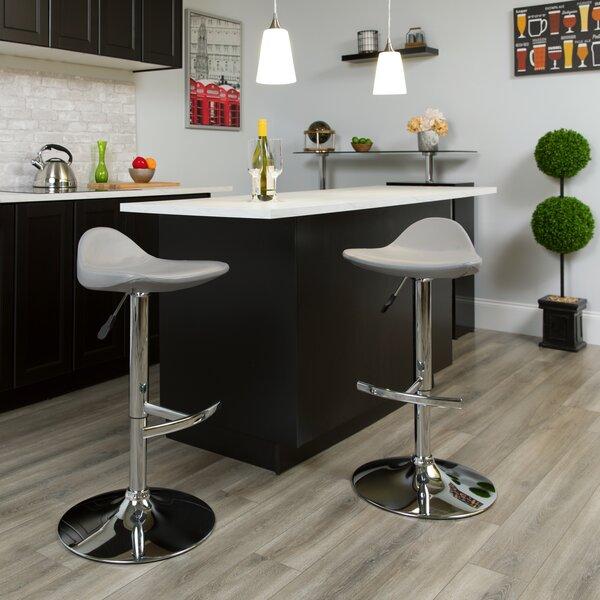 Steinway Adjustable Height Swivel Bar Stool by Wade Logan