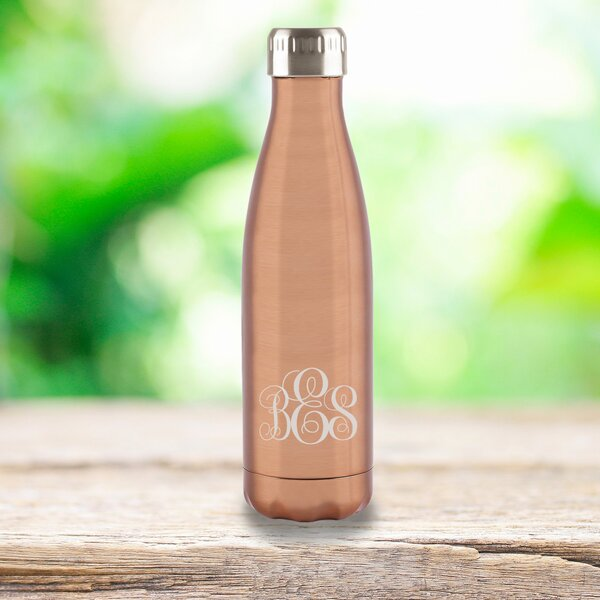 Loris Copper Stainless Steel Double Wall Insulated 17 oz. Water Bottle by Mint Pantry