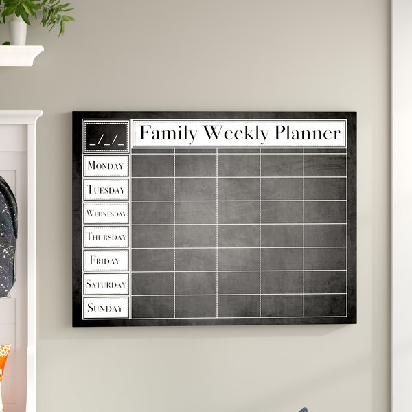 Family Weekly Wall Mounted Dry Erase Board by Winston Porter