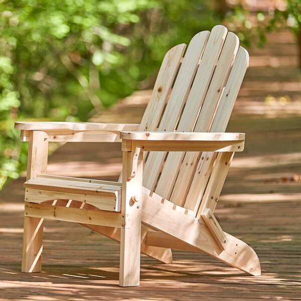 Janes Wood Folding Adirondack Chair by Breakwater Bay
