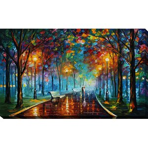 Misty Mood by Leonid Afremov Painting Print on Wrapped Canvas by Picture Perfect International
