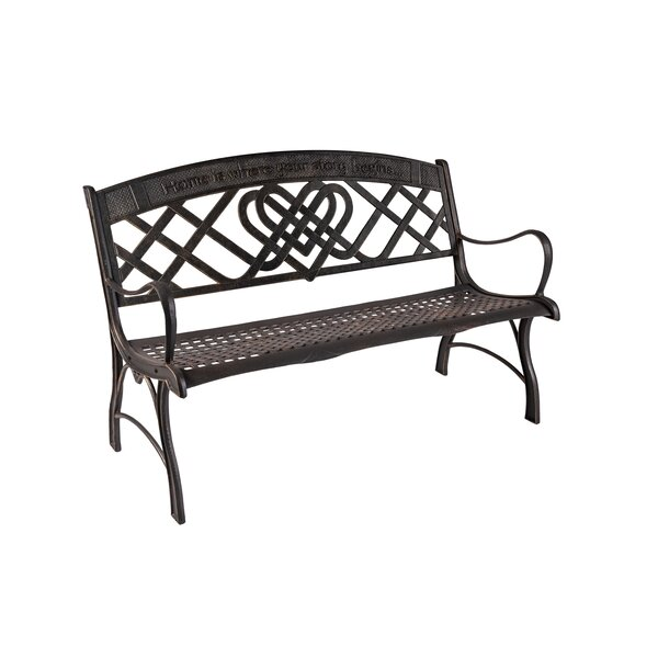 Whitham Celtic Cast Iron Park Bench by 17 Stories
