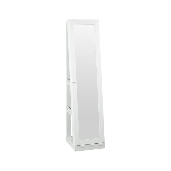 Brucker 3 Tiered Jewellery Armoire with Mirror by Latitude Run