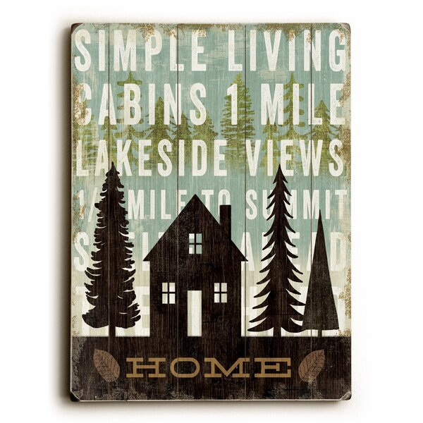 Simple Living Home Graphic Art by Artehouse LLC