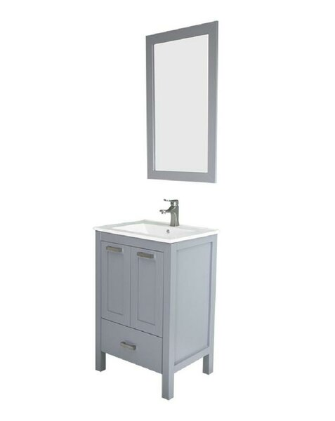 Hirst 24 Single Bathroom Vanity Set with Mirror by Latitude Run| @ $779.99
