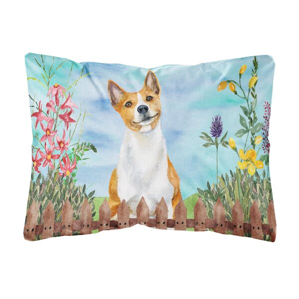 Schiff Basenji Spring Indoor/Outdoor Throw Pillow by Winston Porter