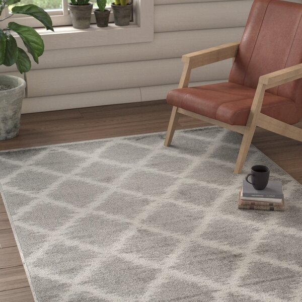 Cronk Silver/Ivory Area Rug by Loon Peak