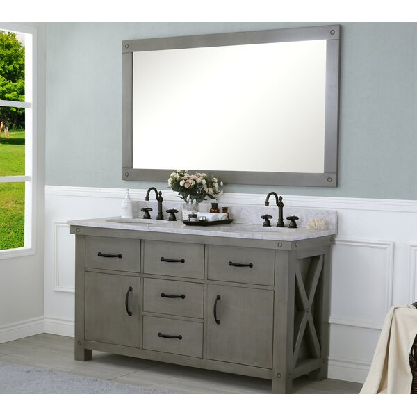 Cleora 60 Double Bathroom Vanity Set with Mirror by Williston Forge