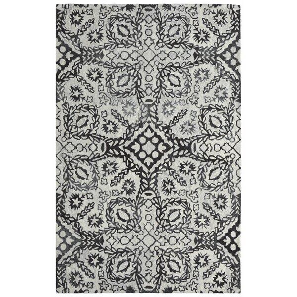 Oriental Tufted Gray/Black Area Rug