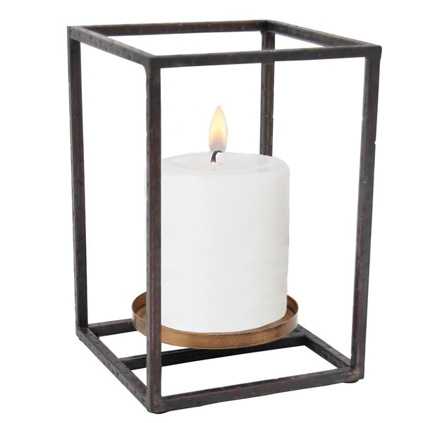 Cube Pillar Lantern by Foreside Home & Garden
