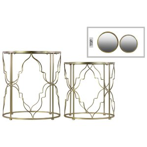 Metal Round 2 Piece Nesting Table Set by Urban Trends