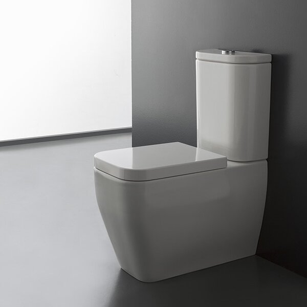 Next 1.2 GPF Elongated Two-Piece Toilet by Scarabeo by Nameeks