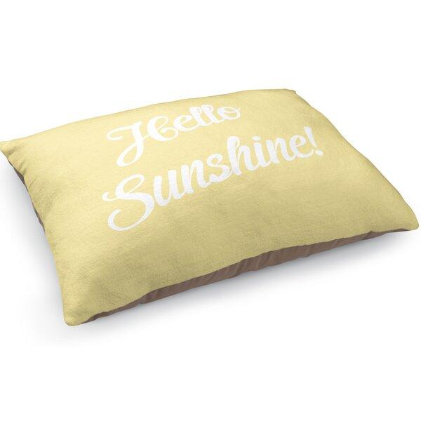 Hello Sunshine Pet Pillow by KAVKA DESIGNS