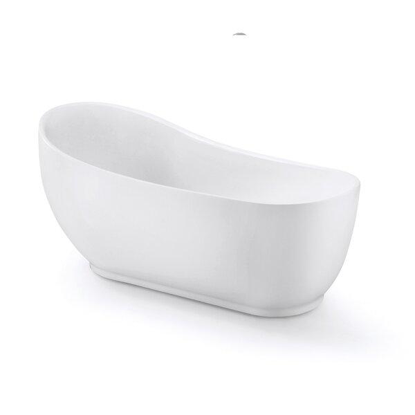 Laurel Acrylic 67 x 31.5 Freestanding Soaking Bathtub by Aston