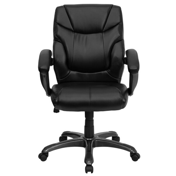Yager High-Back Leather Executive Chair by Symple Stuff