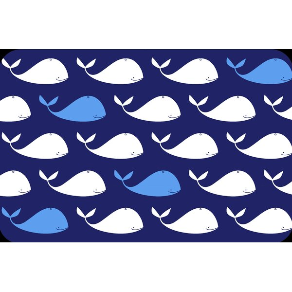 Whale Juvenile Vinyl Placemat (Set of 6) by Elrene Home Fashions