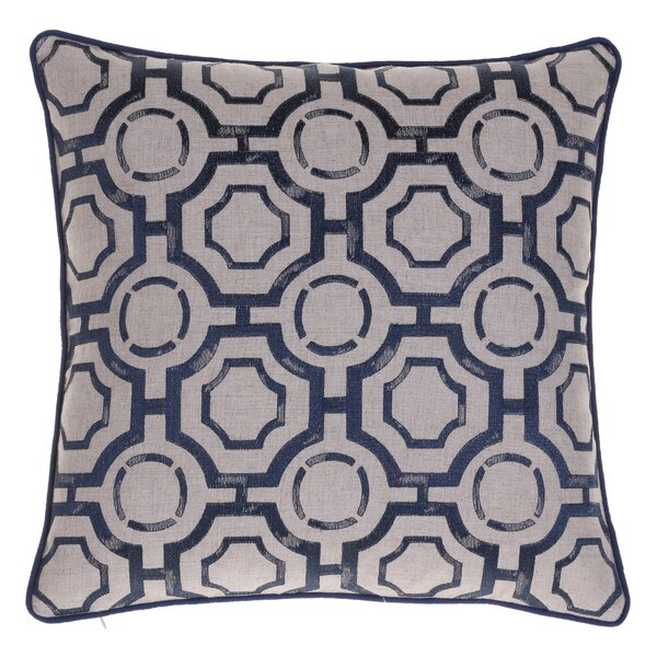 Braga Embroidered Distressed Geometric Throw Pillow by Ivy Bronx