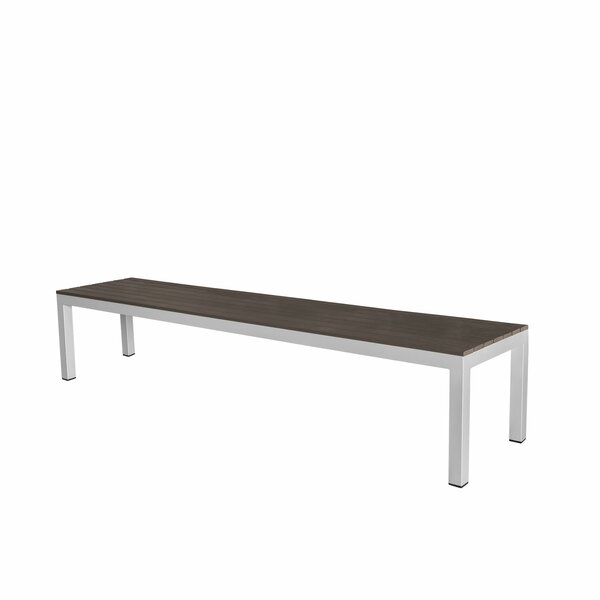 Vienna Backless Aluminum Picnic Bench by Source Contract