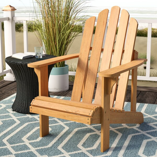 Burgess Solid Wood Adirondack Chair by Highland Dunes