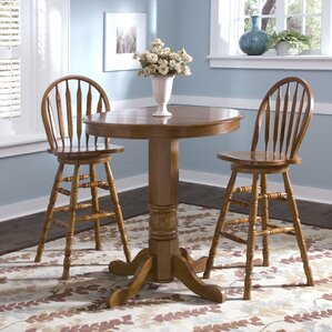 Acadian Pub Table with Optional Stools by Alcott Hill