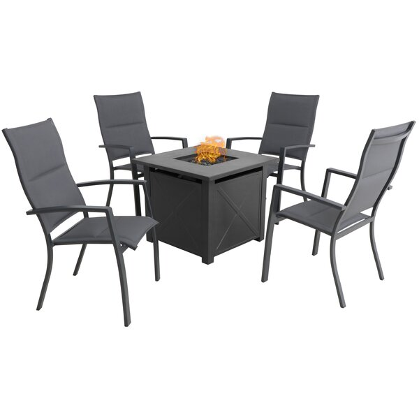 Cerqueira Chat 5 Piece Dining Set by Latitude Run